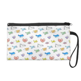Cute airplanes wristlet purse