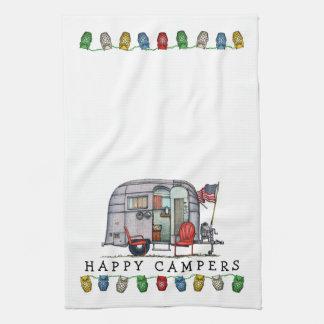 Cute Airstream Camper Travel Trailer Hand Towel
