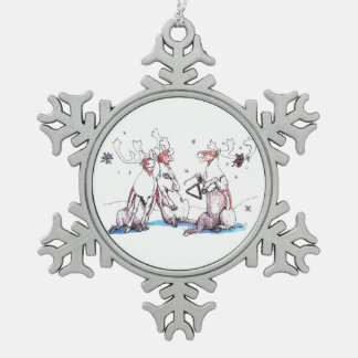 Cute Alaska Wildlife Christmas Snowflake Ornament