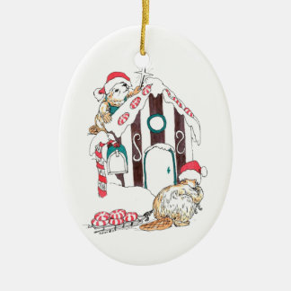 Cute Alaska Wildlife Christmas Tree Oval Ornament
