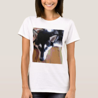 Cute Alaskan Malamute Face T-Shirt