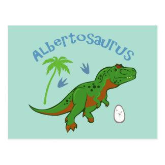 Cute Albertosaurus Postcard