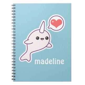 Cute Albino Narwhal Notebook