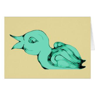 Cute Alien Baby Bird Card