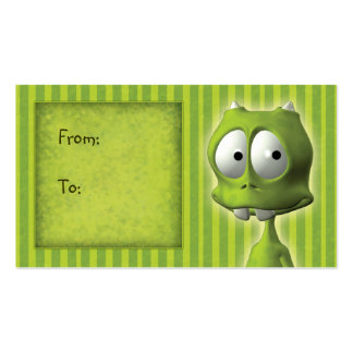 Cute Alien Gift Tag Double-Sided Standard Business Cards (Pack Of 100)