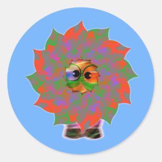 Cute Alien Greetings | Happy Holiday Season Classic Round Sticker