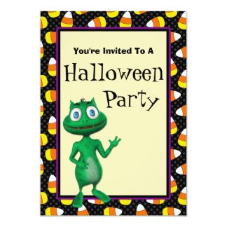 Cute Alien Halloween Party Invitations