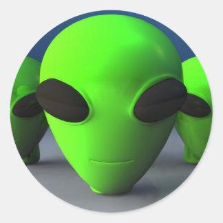Cute Alien Heads Sticker