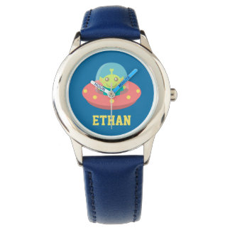 Cute Alien in Spaceship, Outer Space, For Kids Watch