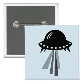 Cute Alien Spaceship badge - great gift for a kid Button