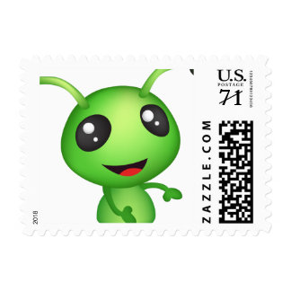 Cute alien stamp