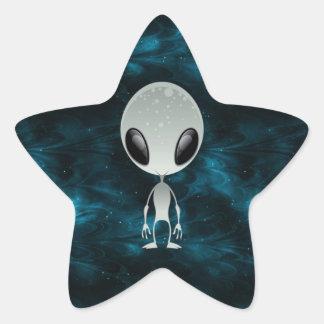 Cute Alien Star Sticker