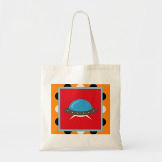 Cute Alien UFO Space Ship Unique Kids Gifts Canvas Bags