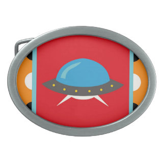 Cute Alien UFO Space Ship Unique Kids Gifts Belt Buckles
