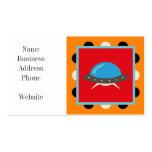Cute Alien UFO Space Ship Unique Kids Gifts Business Card Template
