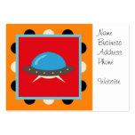 Cute Alien UFO Space Ship Unique Kids Gifts Business Card Templates