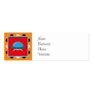 Cute Alien UFO Space Ship Unique Kids Gifts Double-Sided Mini Business Cards (Pack Of 20)