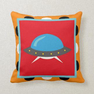 Cute Alien UFO Space Ship Unique Kids Gifts Throw Pillows