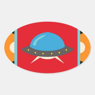 Cute Alien UFO Space Ship Unique Kids Gifts Stickers