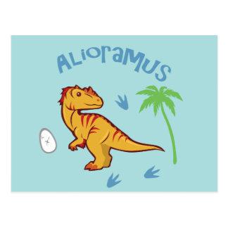 Cute Alioramus Postcard
