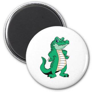 Cute Alligator  2 Inch Round Magnet