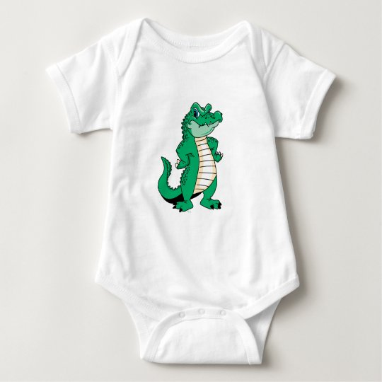 Cute Alligator  Baby Bodysuit