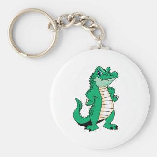 Cute Alligator  Basic Round Button Keychain