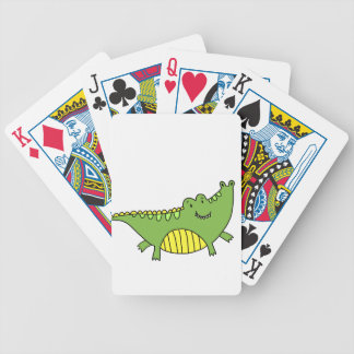 CUTE ALLIGATOR BICYCLE PLAYING CARDS