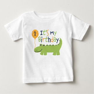 Cute Alligator Birthday Baby T-Shirt