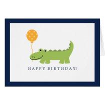 Cute Alligator Birthday Card