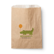 Cute Alligator Birthday Favor Bag