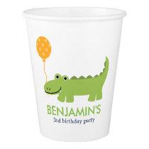 Cute Alligator Children's Birthday Paper Cup