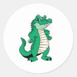 Cute Alligator  Classic Round Sticker