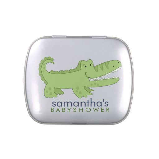 Cute Alligator Customizable Favor Tin Jelly Belly Candy Tin