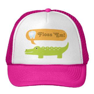 Cute Alligator Floss Dental Hygiene Trucker Hat