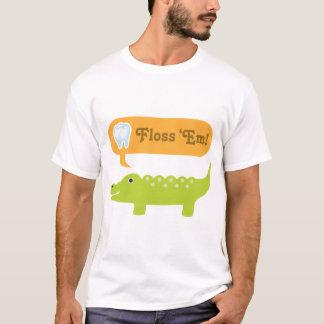 Cute Alligator Floss Dental Hygiene T-Shirt
