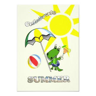 Cute Alligator Margarita Summer Party Invitations