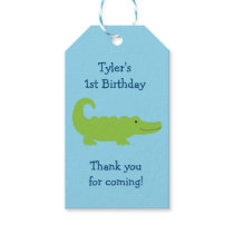 Cute Alligator Party Favor Tags Thank You Tags