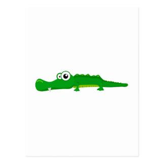 Cute alligator postcard