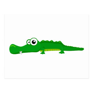 Cute alligator postcard