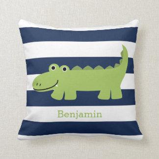 Cute Alligator Throw Pillow