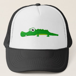 Cute alligator trucker hat