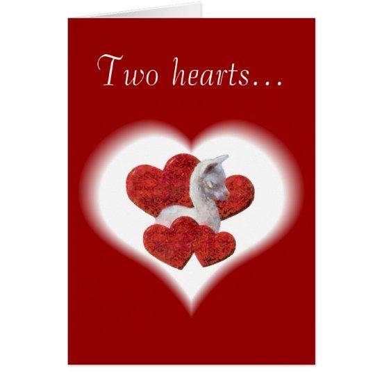 Cute Alpaca Baby Valentines Day Card