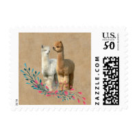 Cute Alpaca Country Save the Date Postage Stamps