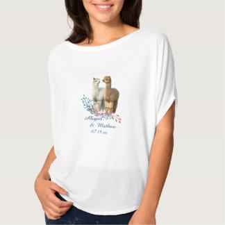 Cute Alpaca Country Wedding T-shirt