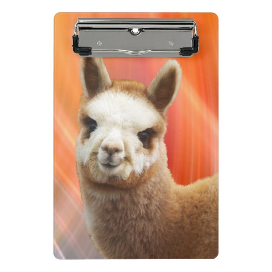 Cute Alpaca Mini Clipboard