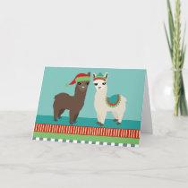 Cute Alpacas Christmas Card