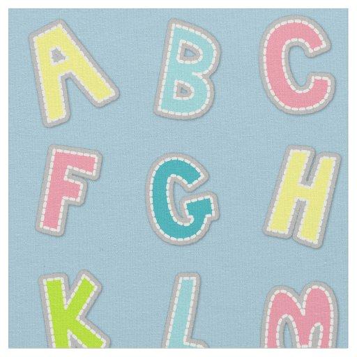 Cute alphabet themed nursery print fabric zazzle for Nursery print fabric