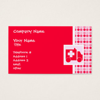 Cute Ambulance Business Card