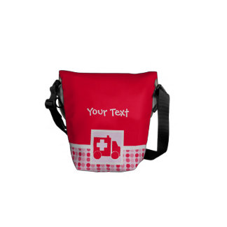 Cute Ambulance Messenger Bag